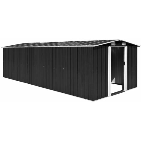 8 ft. W x 20 ft. D Apex Metal Shed by WFX Utility - Black