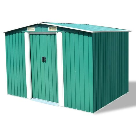 8 ft. W x 7 ft. D Apex Metal Shed by WFX Utility - Green