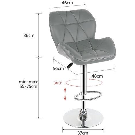 8 Gray European tank bar chair