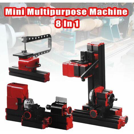 8 in 1 Mini Multipurpose Machine DIY Carpentry Model Making Lathe Milling Tool