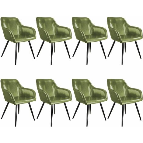 8 Marilyn Faux Leather Chairs