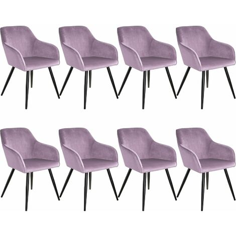 8 Marilyn Velvet-Look Chairs