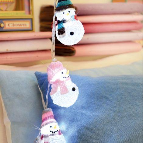 8 muñeco de nieve guirnalda