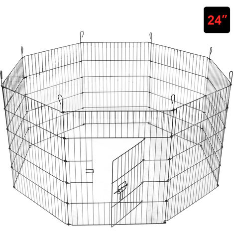 8 Panel Pet Puppy Playpen Folding Dogs Cats Rabbits Run Cage