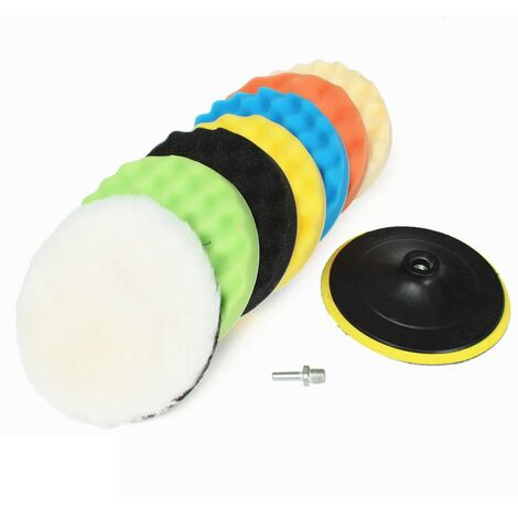 8 Pcs 7 Inch Car Polishing Waxing Kit Buffer Pad Compound Sponge Foam For Compound Auto Car