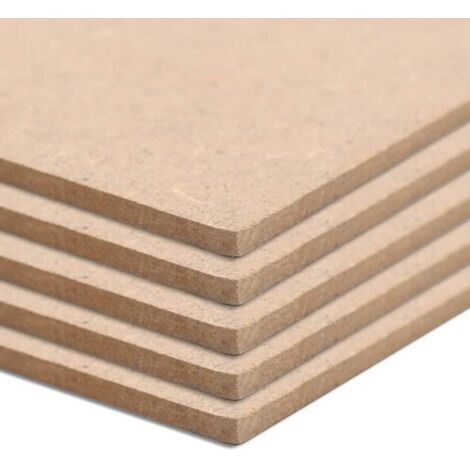 8 pcs MDF Sheets Square 60x60 cm 12 mm