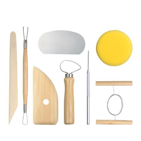 8 piezas, herramientas de ceramica, cortador de talla de escultura