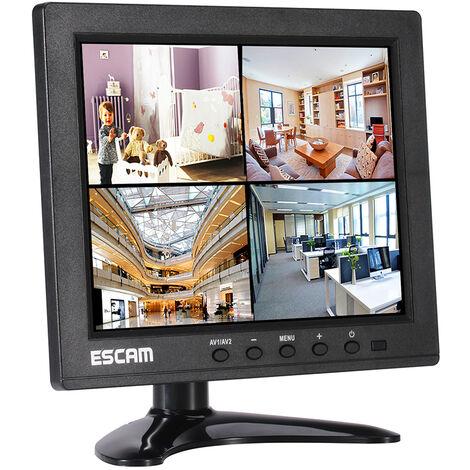 8 pulgadas de seguridad CCTV monitor de vigilancia con control remoto de 1024x768 resolucion de visualizacion de video Soporte HDMI / VGA / AV / BNC / USB