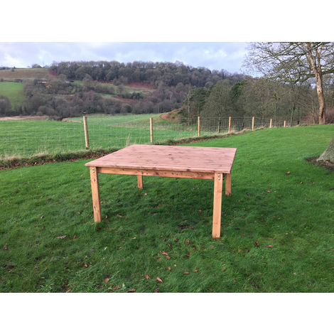 8 Seat Square Dining Table, wooden garden furniture, fully assembled