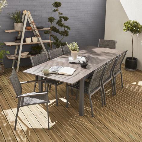 8-seater extending garden table set - Chicago
