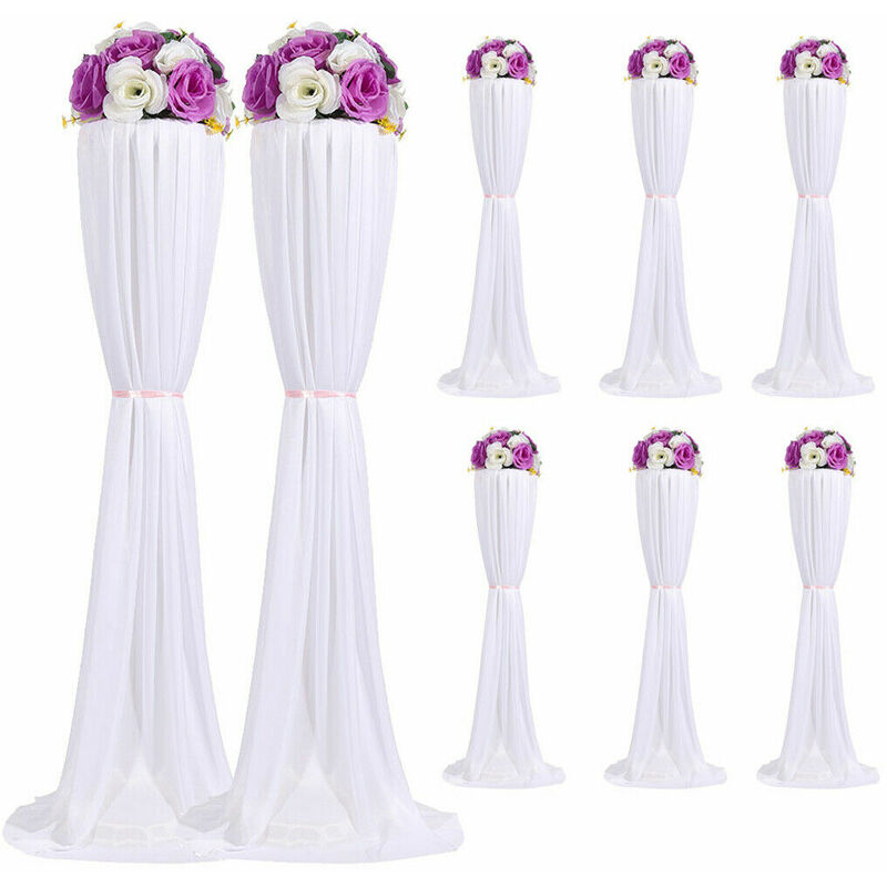 Image of 8 Set Road Lead Stand Wedding Party Decors Flower Stand Pole Venue Decoration
