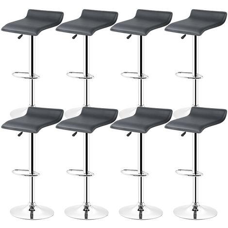 8* tabourets de bar chaise bistrot réglable pivotant siège Européen style noir