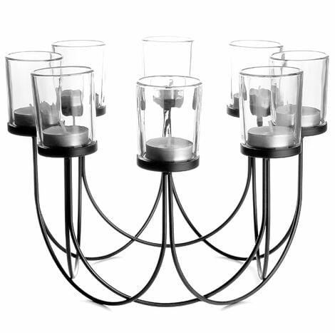 8 Tealight Candle Holder | M&W Black