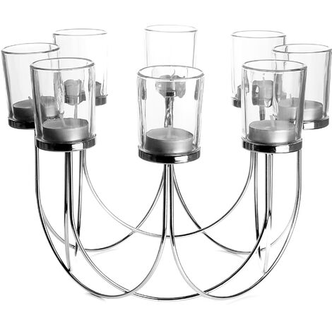 8 Tealight Candle Holder | M&W Chrome