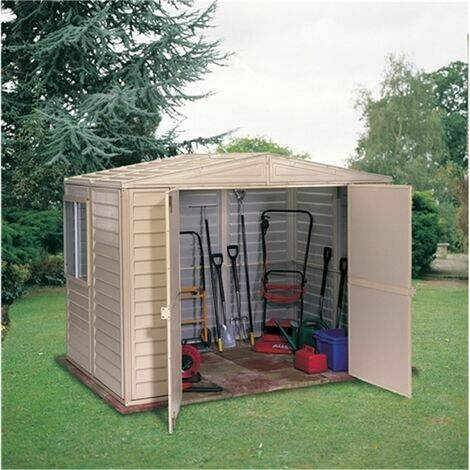 8 x 10 Deluxe Duramax Plastic Pvc Shed With Steel Frame (3.04m x 2.43m)