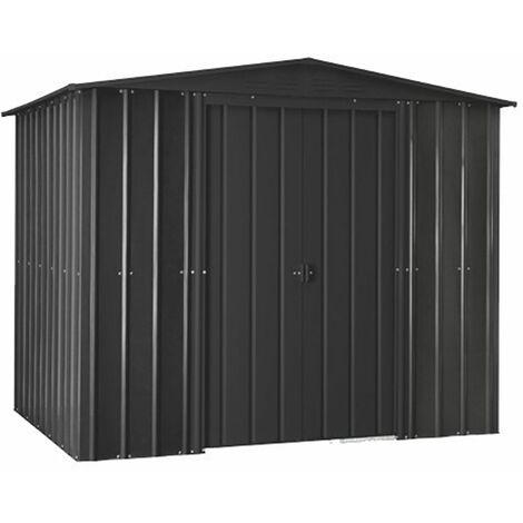 8 x 3 Premier EasyFix – Apex – Metal Shed - Anthracite Grey (2.45m x 0.92m)
