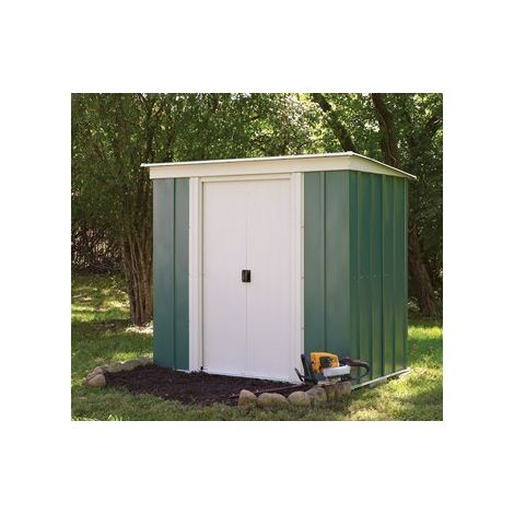 8' x 4' Metal Pent Shed with sliding doors
