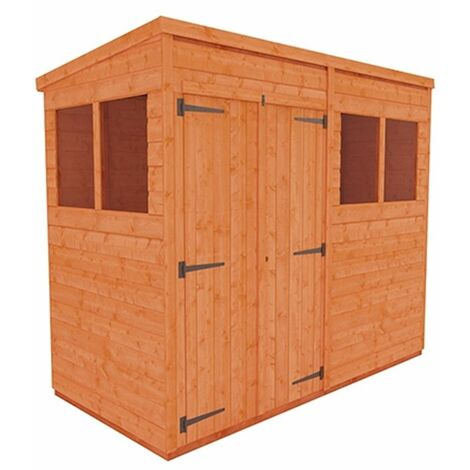 8 x 4 Tongue and Groove Pent Shed with Double Doors (12mm Tongue and Groove Floor and Roof)