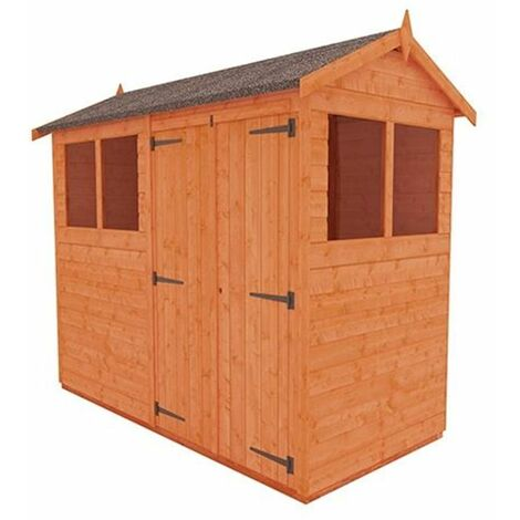 8 x 4 Tongue and Groove Shed with Double Doors(12mm Tongue and Groove Floor and Apex Roof)