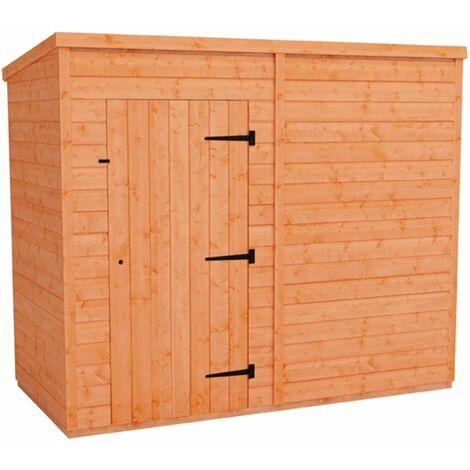 8 x 4 Windowless Tongue and Groove Pent Shed (12mm Tongue and Groove Floor and Roof)