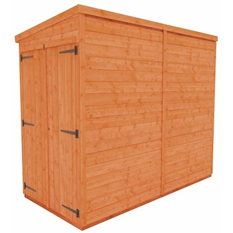 8 x 4 Windowless Tongue and Groove Pent Shed with Double Doors (12mm Tongue and Groove Floor and Roof)