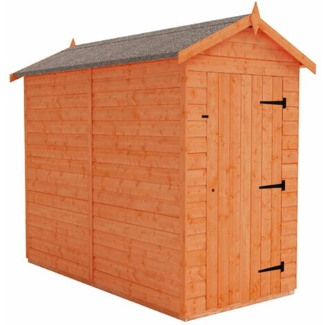 8 x 4 Windowless Tongue and Groove Shed (12mm Tongue and Groove Floor and Apex Roof)