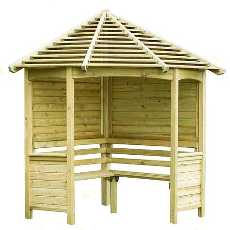 8' x 5' (2.33x1.41m) Forest Tatton Corner Arbour Seat