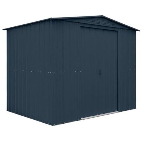 8 x 6 Premier EasyFix – Apex – Metal Shed -Anthracite Grey (2.45m x 1.85m)