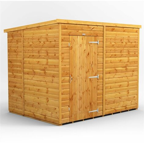"""main image of """"8 x 6 Premium Tongue and Groove Pent Shed - Single Door - Windowless - 12mm Tongue and Groove Floor and Roof"""""""