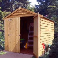 8 x 6 Pressure Treated Overlap Shed