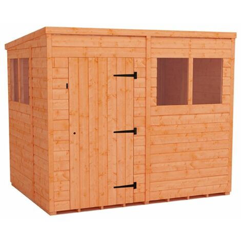 8 x 6 Tongue and Groove Pent Shed (12mm Tongue and Groove Floor and Roof)