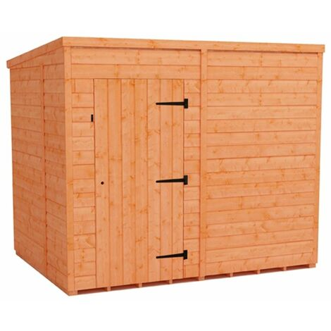 8 x 6 Windowless Tongue and Groove Pent Shed (12mm Tongue and Groove Floor and Roof)