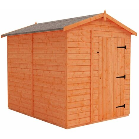 8 x 6 Windowless Tongue and Groove Shed (12mm Tongue and Groove Floor and Apex Roof)