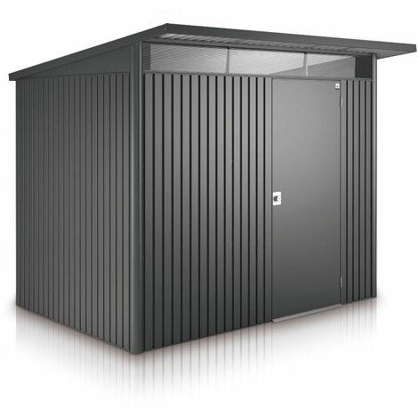 8 x 7 Large Premier Heavy Duty Metal Dark Grey Shed (2.6m x 2.2m)