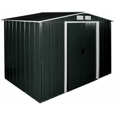 8 x 8 Value Apex Metal Shed - Anthracite Grey (2.62m x 2.42m)