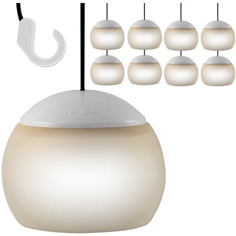 Pour 8 Durée Facile Suspension À X Lampes Lampion Led Longue Entretien Pavillon wO8kn0PX