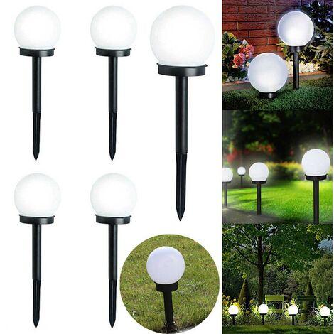 "main image of ""8 x Large White Globe Ball Garden Solar Lights"""