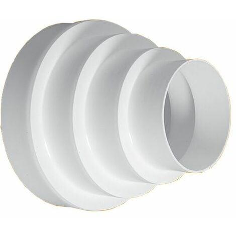 80/100/120/125/150/160mm Rond Évent Tuyau Réducteur Ventilation Réduction