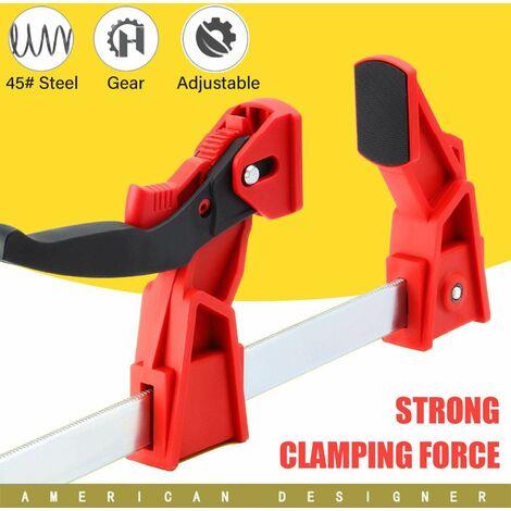 80-200mm pince à bois à dégagement rapide barre de travail du bois F pince poignée à cliquet presser bricolage main menuiserie Gadgets lourds 80-200mm 80 à 200 mm
