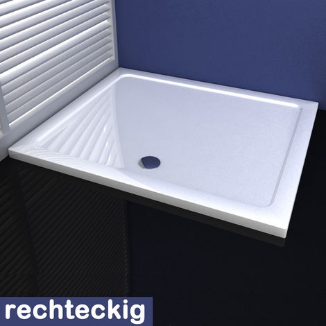 80 cm Duschkabine Duschtasse aus Kunststein