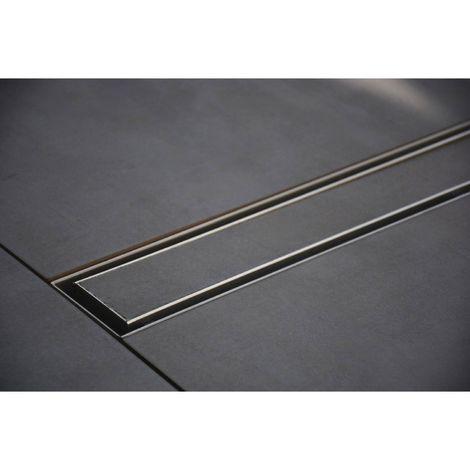 80 cm modèle à carreler - Caniveau de Douche Italienne Inox - argent