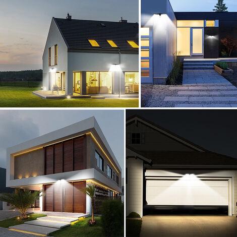 80 LEDs Solar Wall Light PIR Motion Sensor & Lighting Sensor Two-Sided Illumination Wireless Home Securitys Lights IP65