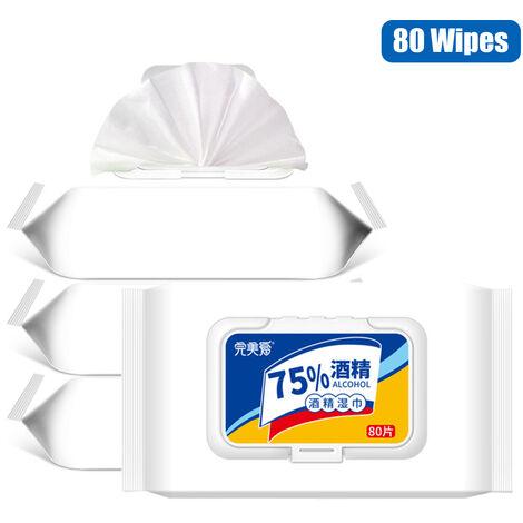 80 Lingettes / Paquet 75% D'Alcool Lingettes Desinfectantes Lingettes Humides
