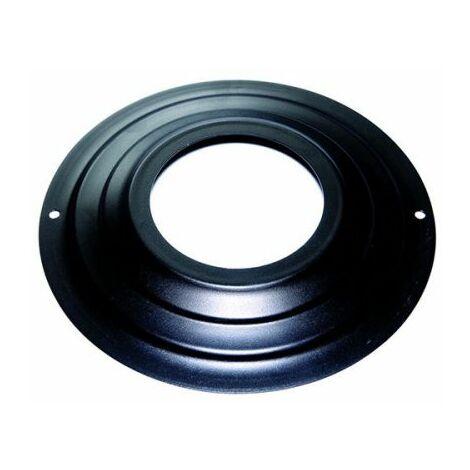80 mm rosette d. externes 230 mm. pellets peints de cheminée noir