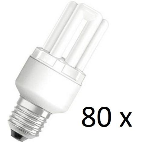 80 x Osram Dulux Star Superstar 8W/825 220-240V E27 Stick Lamp Light Bulb