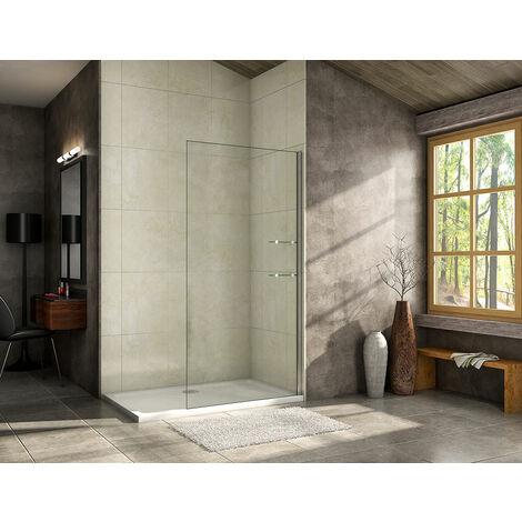 800/900/1000/1200mm Walk in Shower Screen Wet Room,Glass shelves included