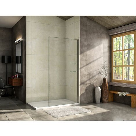 800/900/1000/1200mm Walk in Shower Screen Wet Room,Glass shelves included
