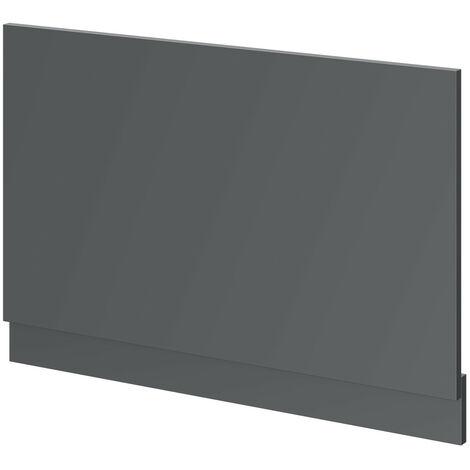800 Grey Gloss Bath End Panel