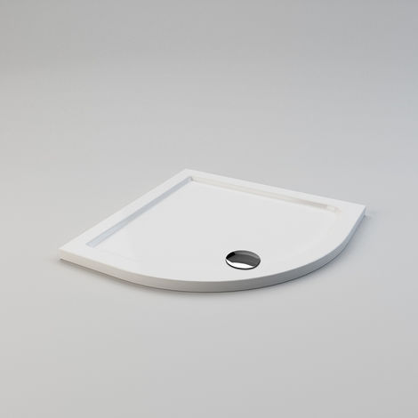 800 x 800 x 40 mm Quadrant Stone Tray for Bathroom Shower enclosure Corner Glass Door and Waste Trap