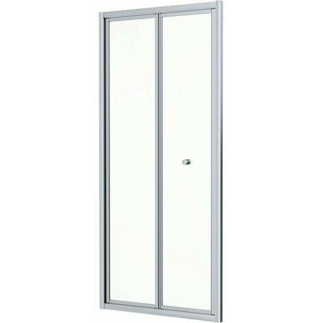 800 x 800mm Bi Fold Shower Door Enclosure Glass Screen 4mm Framed Acrylic Tray